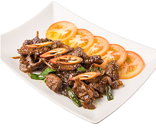 87. Sliced Beef in Oyster Sauce